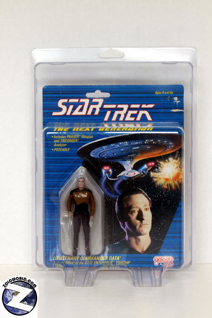 Protective case for Galoob 3 3/4 Star Trek TNG figures