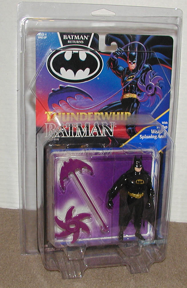 Kenner Batman Returns ThunderWhip Batman MOC with case