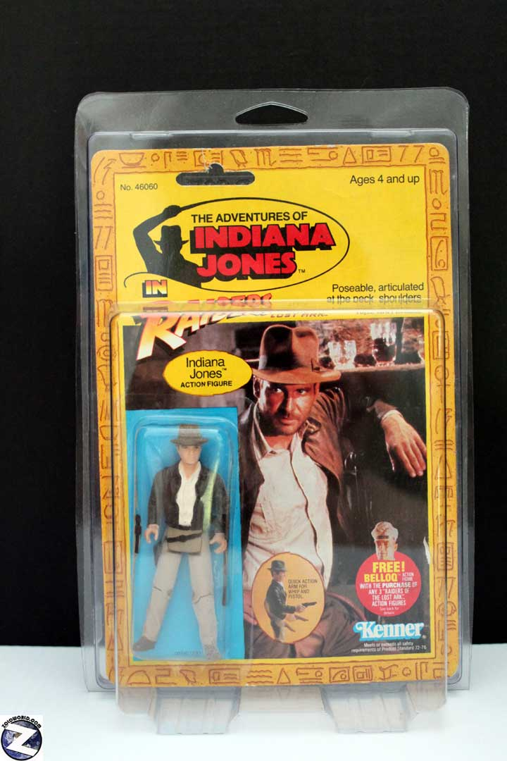 Protective action figure case for vintage Indiana Jones MOC