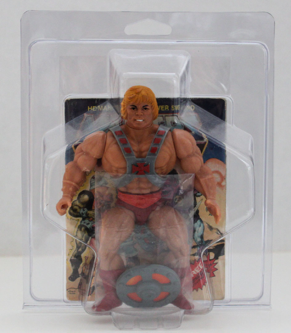 MOTU / Remco Style Protective Loose action figure case w/ comic