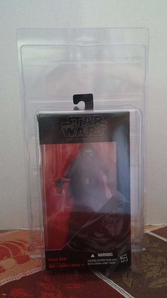 "Action Figure Protective Case Star Wars Black Boxed 6"" BLEMISH"