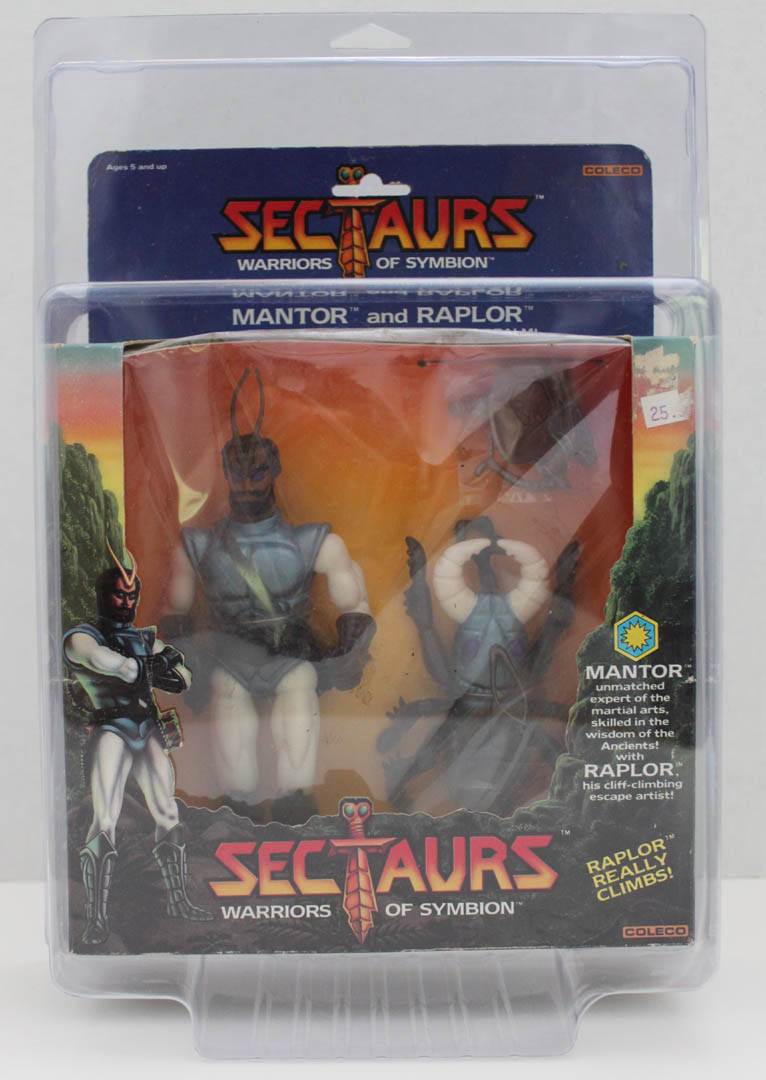 Protective action figure case Sectaurs MIB & SILVERHAWKS