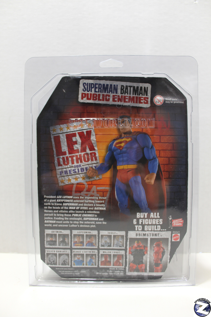 SUPERMAN BATMAN PUBLIC ENEMIES MOC action figure protective case