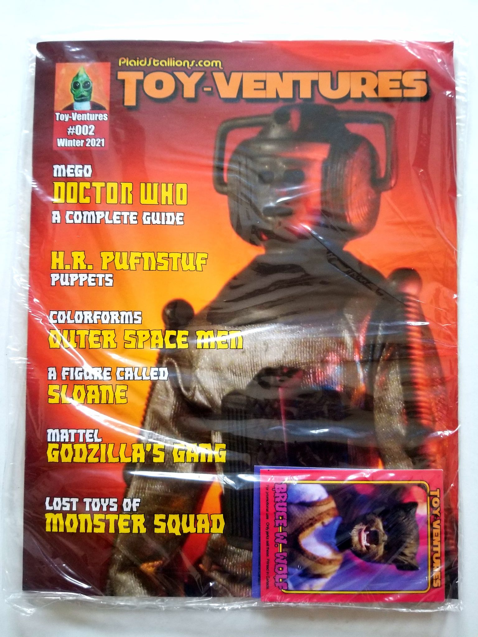 Toy Ventures Issue#2 Doctor Who, Outer Space Men, Godzilla ++